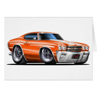 1970 Chevelle Orange-White Car Card