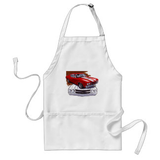 1970 Chevelle Red-White Car Adult Apron
