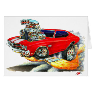 1970 Chevelle Red-White Car Card