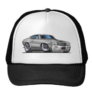 1970 Chevelle Silver-Black Car Trucker Hat