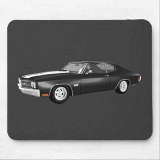 1970 Chevelle SS: Black Finish: Mouse Pad