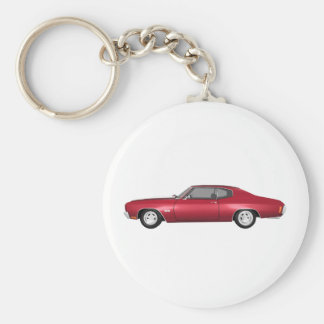 1970 Chevelle SS: Candy Apple Finish: Basic Round Button Keychain