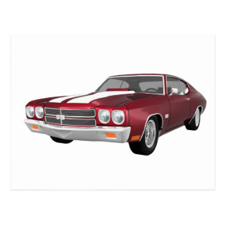 1970 Chevelle SS: Candy Apple Finish: Postcard