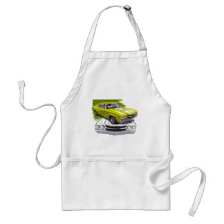 1970 Chevelle Yellow-White Car Adult Apron
