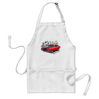 """""""1970 chevy chevelle"""" chevelle cars adult apron"""
