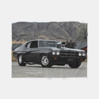 1970 Chevy Chevelle Drag Muscle Car Fleece Blanket
