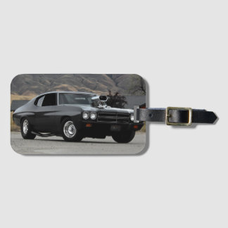 1970 Chevy Chevelle Drag Muscle Car Luggage Tag