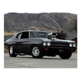1970 Chevy Chevelle Drag Muscle Car Postcard