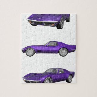 1970 Corvette: Purple Finish Jigsaw Puzzle