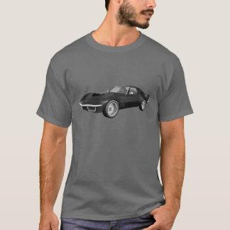 1970 Corvette Sports Car: Black Finish T-Shirt