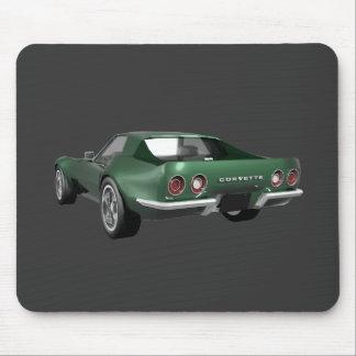1970 Corvette Sports Car: Green Finish Mouse Pad