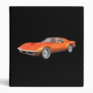 1970 Corvette Sports Car: Orange Finish: Binder