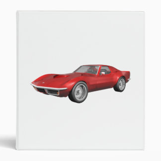 1970 Corvette Sports Car: Red Finish: Binder