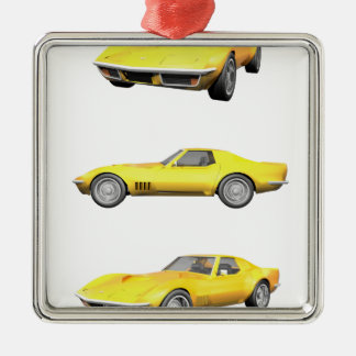 1970 Corvette: Yellow Finish: Metal Ornament