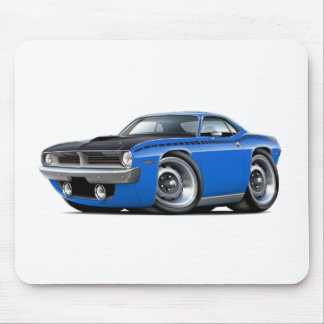 1970 Cuda AAR Blue Car Mouse Pad