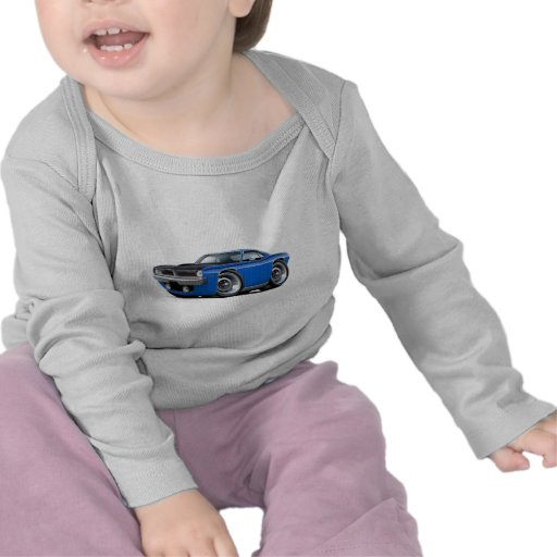 1970 Cuda AAR Blue Car T-shirt