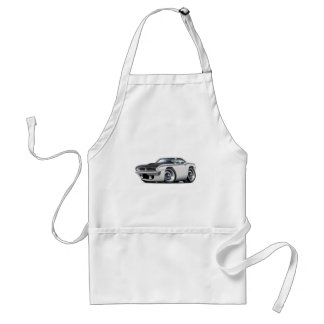 1970 Cuda AAR White Car Adult Apron