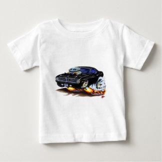 1970 Cuda Black Car Baby T-Shirt