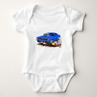1970 Cuda Blue Car Baby Bodysuit