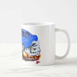 1970 Cuda Blue Car Coffee Mug