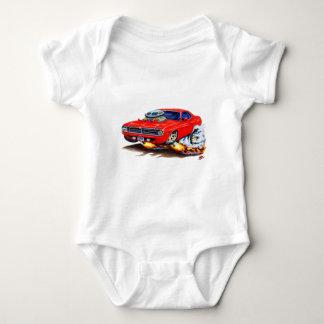 1970 Cuda Red Car Baby Bodysuit