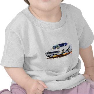 1970 Cuda White Car Tee Shirts