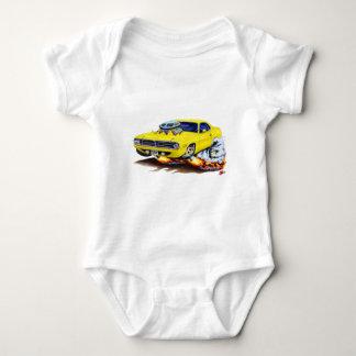 1970 Cuda Yellow Car Baby Bodysuit