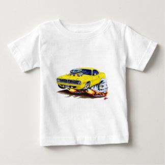 1970 Cuda Yellow Car Baby T-Shirt