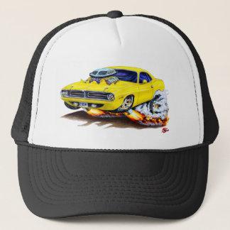 1970 Cuda Yellow Car Trucker Hat