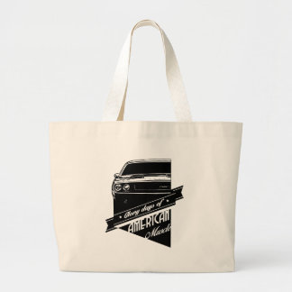 1970 Dodge Challenger American Glory Large Tote Bag