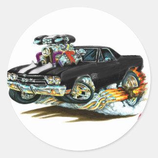 1970 El Camino Black-White Truck Classic Round Sticker