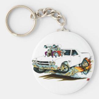 1970 El Camino White Truck Keychain
