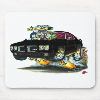 1970 GTO Black Car Mouse Pad