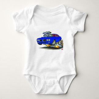1970 GTO Blue Car Baby Bodysuit