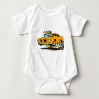 1970 GTO Orange Car Baby Bodysuit