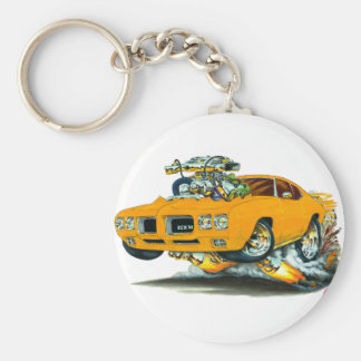 1970 GTO Orange Car Keychain