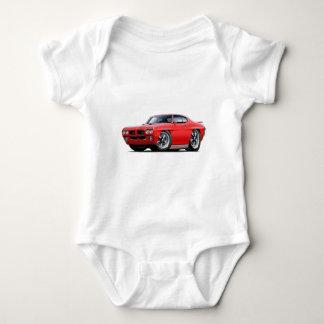 1970 GTO Red Car Baby Bodysuit