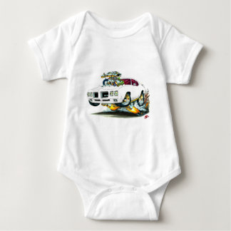 1970 GTO White Car Baby Bodysuit
