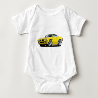 1970 GTO Yellow Car Baby Bodysuit