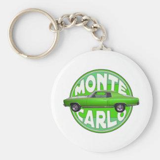 1970 monte carlo green mamba basic round button keychain
