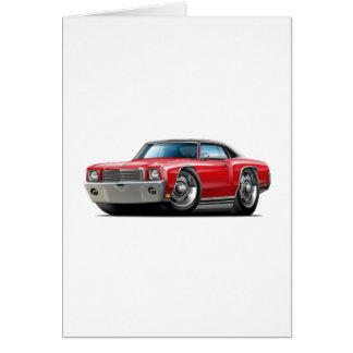 1970 Monte Carlo Red-Black Top Car Card