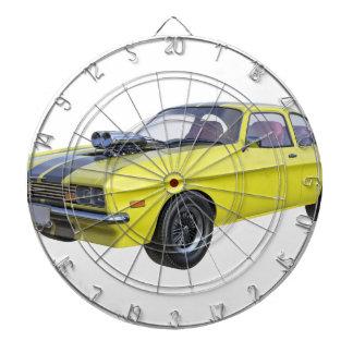 1970 Muscle Car Yellow with Black Stripe Dartboard