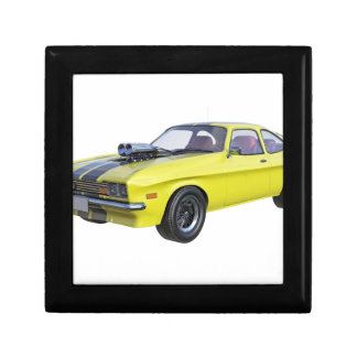 1970 Muscle Car Yellow with Black Stripe Gift Box