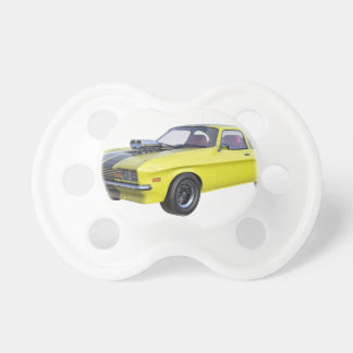 1970 Muscle Car Yellow with Black Stripe Pacifier