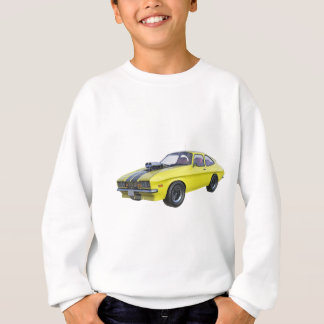 1970 Muscle Car Yellow with Black Stripe Sweatshirt