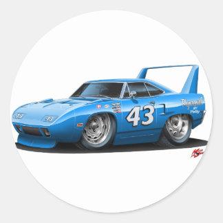 1970 Nascar Superbird Petty Classic Round Sticker