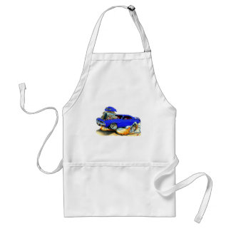 1970 Plymouth Cuda Blue Car Adult Apron