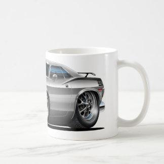 1970 Plymouth Cuda Grey Car Coffee Mug