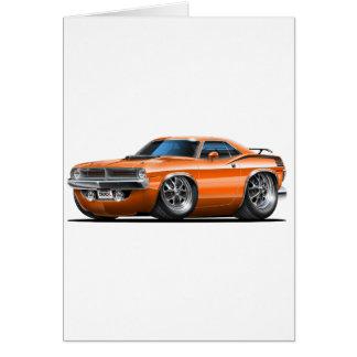1970 Plymouth Cuda Orange Car Card