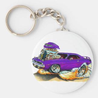 1970 Plymouth Cuda Purple Car Keychain